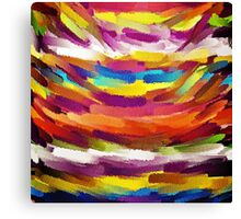 Vivid Color Paint Splatter Brush Stroke Canvas Print
