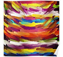 Vivid Color Paint Splatter Brush Stroke Poster