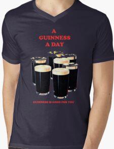 a pint a day Mens V-Neck T-Shirt