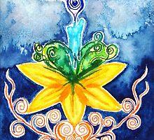 Candle Chakra Doodle  by Chris Kfoury