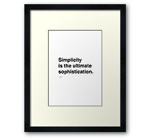Simplicity Da Vinci Framed Print