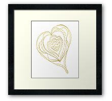 Gold Heart Framed Print