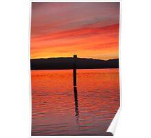 Sunset Pole Poster