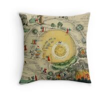 """""""Plan of the Road from the City of Destruction to the Celestial City, engraved expressly for Williams's Elegant Edition of The Pilgrim's Progress"""", 19th century (engraving) Throw Pillow"""