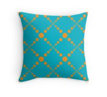 Big Orange Bubbles Throw Pillow