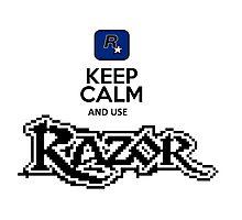 keep calm and use razor Photographic Print