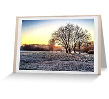HDR Frosty Morning Greeting Card