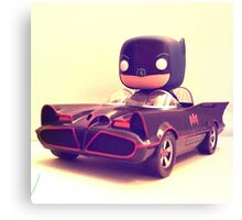 Batman & Batmobile Canvas Print