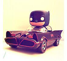 Batman & Batmobile Photographic Print