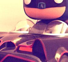 Batman & Batmobile Sticker
