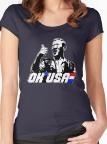 OK, USA! Women's Fitted Scoop T-Shirt