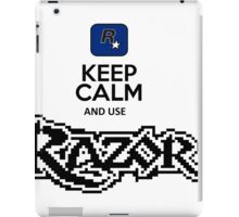 keep calm and use razor iPad Case/Skin