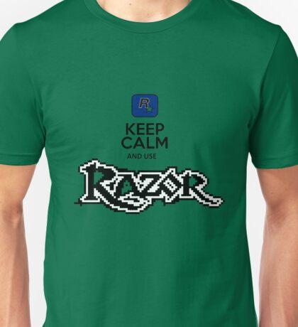 keep calm and use razor Unisex T-Shirt