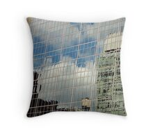 NYC Building Reflection Throw Pillow