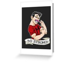 Markiplier strong Greeting Card