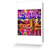 Abstract Paint Color Splatter Brush Stroke Greeting Card