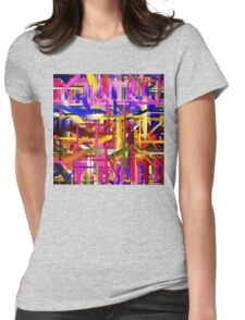 Abstract Paint Color Splatter Brush Stroke Womens Fitted T-Shirt