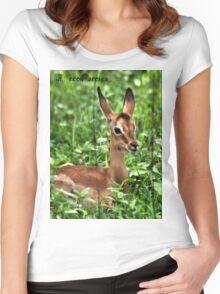 IMPALA ( Aepyceros melampus ) Women's Fitted Scoop T-Shirt