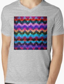 Abstract Paint Color Splatter Brush Stroke #2 Mens V-Neck T-Shirt