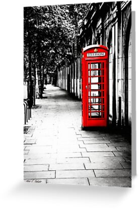 London Calling - Classic British Red Telephone Box by Mark Tisdale