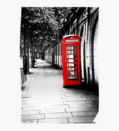 London Calling - Classic British Red Telephone Box Poster
