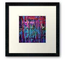 Abstract Paint Color Splatter Brush Stroke #3 Framed Print