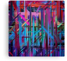 Abstract Paint Color Splatter Brush Stroke #3 Canvas Print