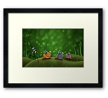 Snail Racing Framed Print