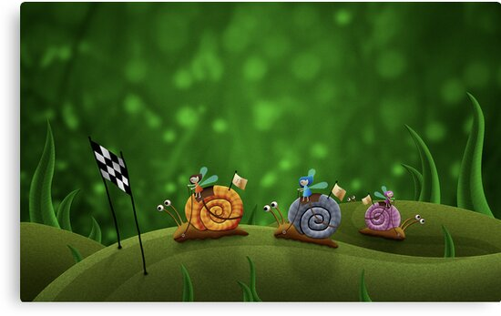 Snail Racing by vladstudio