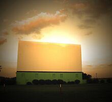 Drive-In Sunset by Hilary Walker