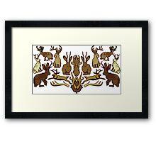 Jackalope Crest Framed Print