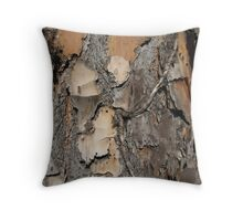 Jekyll treebark Throw Pillow