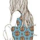 Little girl in a dress sitting back hair by OlgaBerlet