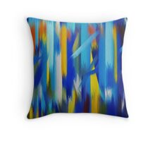 Paint Color Splatter Brush Stroke #5 Throw Pillow