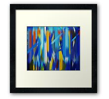 Paint Color Splatter Brush Stroke #5 Framed Print