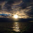 sun almost setting by Christopher Birtwistle-Smith