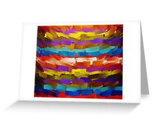 Abstract Paint Color Splatter Brush Stroke #4 Greeting Card