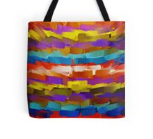 Abstract Paint Color Splatter Brush Stroke #4 Tote Bag
