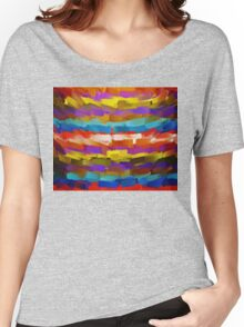 Abstract Paint Color Splatter Brush Stroke #4 Women's Relaxed Fit T-Shirt