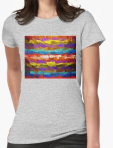 Abstract Paint Color Splatter Brush Stroke #4 Womens Fitted T-Shirt