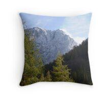 White Peaks Throw Pillow