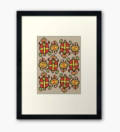 Fabulous Turtles Framed Print