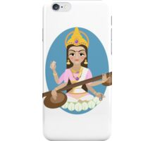 Hindu Goddess Saraswati. Vector hand drawn illustration. iPhone Case/Skin