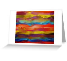 Abstract Paint Color Splatter Brush Stroke #5 Greeting Card