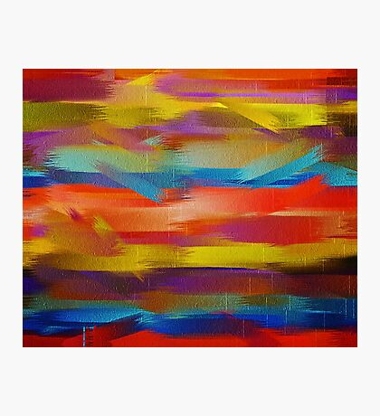 Abstract Paint Color Splatter Brush Stroke #5 Photographic Print
