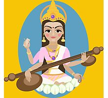 Hindu Goddess Saraswati. Vector hand drawn illustration. Photographic Print