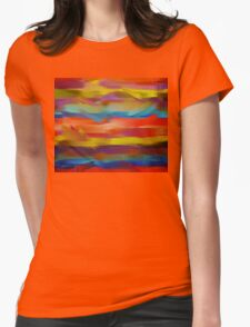 Abstract Paint Color Splatter Brush Stroke #5 Womens Fitted T-Shirt