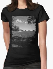 White Fence Womens Fitted T-Shirt