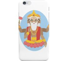 illustration of Hindu deity lord Brahma iPhone Case/Skin