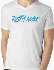 JUST A HUNK Dr. Steve Brule Design by SmashBam Mens V-Neck T-Shirt